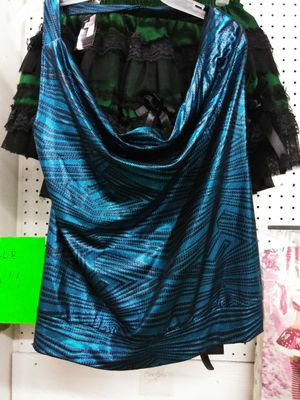 Blue and black halter top for Sale in McAllen, TX