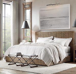 Restoration Hardware Queen Bed+Nightstand for Sale in Costa Mesa, CA