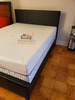 Brand New Full Size Leather Platform Bed Frame + Gel Memory Foam Mattress Set for Sale in Silver Spring,  MD