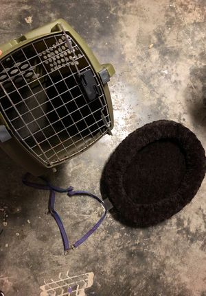Pet kennel, bed and leash for small dog/ cat for Sale in Winter Park, FL