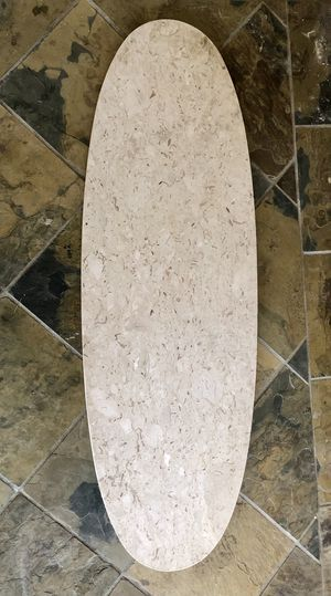 **FREE** Mid-Century Travertine Surfboard Coffee Table (Top only) for Sale in Pinole, CA