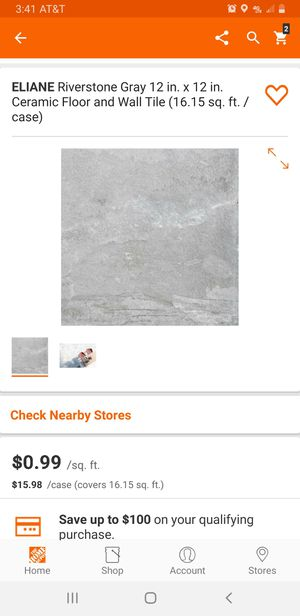 12x12 riverstone gray for Sale in Charlotte, NC