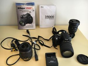 Nikon D5000 (lenses: 18-55mm, 10-20mm, 18-105mm) for Sale in Lincoln, MA
