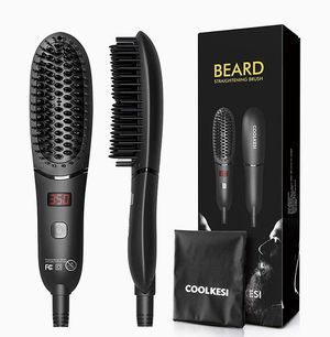 Ionic Beard Straightener for Men, Anti-Scald Hair Straightening Brush with Fast Heating, Portable Ceramic Heat Brush Comb for Home or Travel for Sale in Arlington Heights, IL