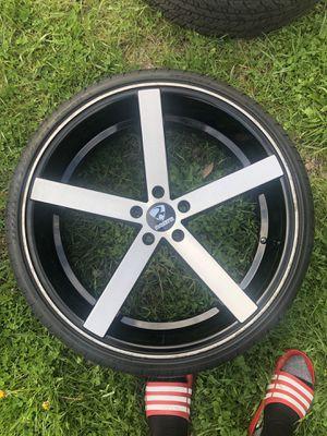 22' Ravetti Rims with tires for Sale in Moline, IL