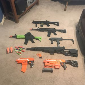 Air soft And Nerf Guns All Of Them Work for Sale in Pflugerville, TX