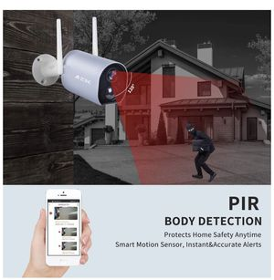 Battery Powered Outdoor Security Camera, Wireless Home Security Camera WiFi Camera Surveillance Camera 10400mAh Rechargeable Solar Power 1080P Night for Sale in Edison, NJ