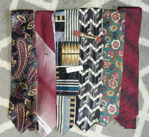 6 Vintage Designer Silk Ties - Bellissimo!! for Sale in Grosse Ile Township, MI