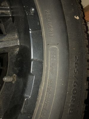 Mastercraft Courser Snow Tires. 265/60R18 for Sale in North Andover, MA