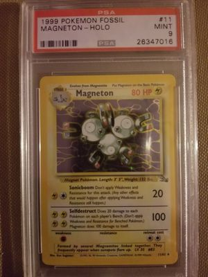 PSA 9 Magneton Holo From Fossil Set for Sale in Philadelphia, PA