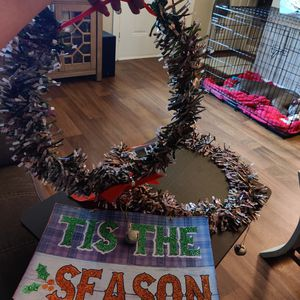 2 diy dollar tree wreaths and sign for Sale in Raleigh, NC