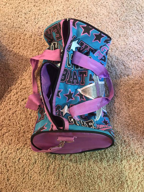 Girls Sleeping Bag, overnight, and Dance Tote Bag