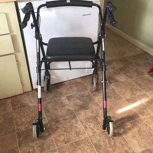 Large Walker With Wheels And Seat for Sale in Greenville, SC