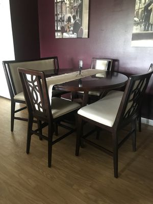 Counter Hight 6 Seater Dining Table W/ Chairs for Sale in Durham, NC