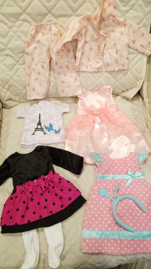 """American girl doll or 18"""" doll clothes lot for Sale in Los Angeles, CA"""