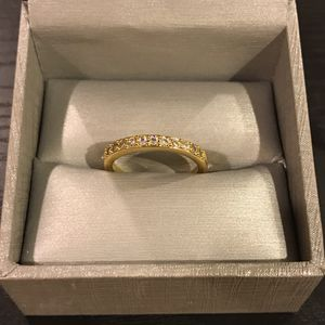 Cute Unisex 18K Gold plated Ring- Cushions/Radiant/Round Cut for Sale in Dallas, TX