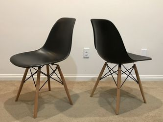 2 NEW Eames Style Chairs w/ Studded Chair Mat for Sale in Yorba Linda,  CA