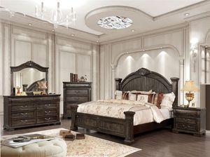 4-Pc Walnut, Solid Wood Queen Bedroom Set for Sale in Fresno, CA
