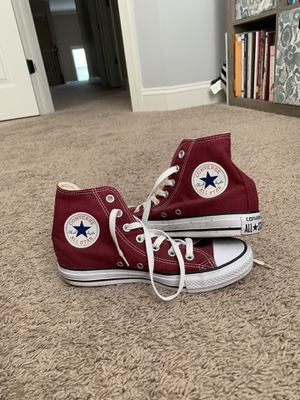 Maroon High Top converse for Sale in Arrington, TN