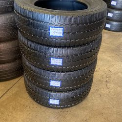 4 Used Tires 235/65/R16 Continental . Free Mount And High Speed Balance Included for Sale in Bellflower,  CA