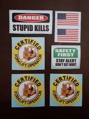 Forklift Operator Hard Hat Stickers for Sale in Pasadena, TX