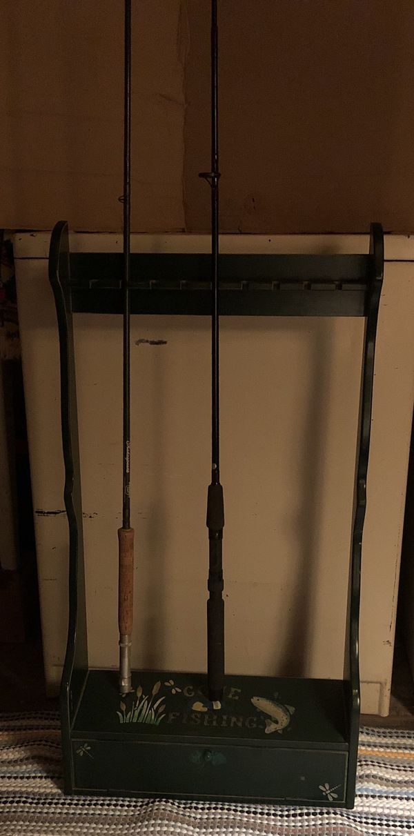 Fishing rod and reel storage RODS SOLD SEPARATELY