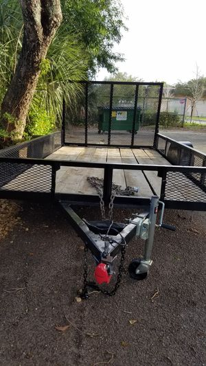 UTILITY TRAILER ALMOST NEW 6.5 X 8 FT for Sale in Fort Lauderdale, FL