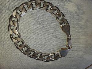 Real silver Cuban link bracelet for Sale in Phoenix, AZ