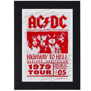 AC DC 1979 classic rock print mini concert poster flyer music for Sale in Covina, CA