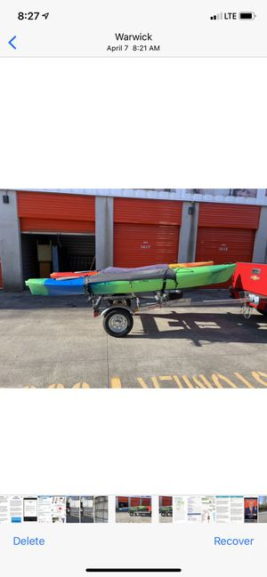 LLBeanKayaks 12ft plus Malone trailer for Sale in Warwick, RI