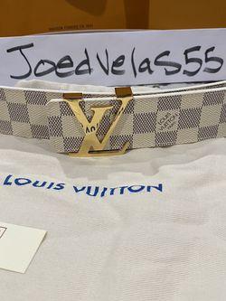 Louis Vuitton White Damier Mens Belt for Sale in Santa Ana,  CA
