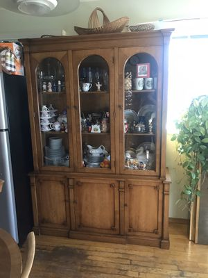 China and dining table with 6 chairs for Sale in Novato, CA