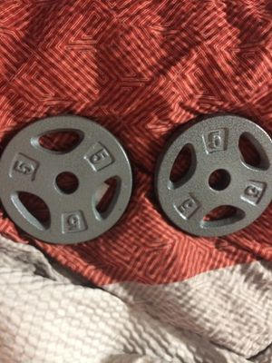 Set of 5lb barbell weight plates for Sale in Gaston, SC