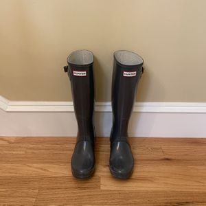 Women's grey Hunter boots for Sale in Holladay, UT