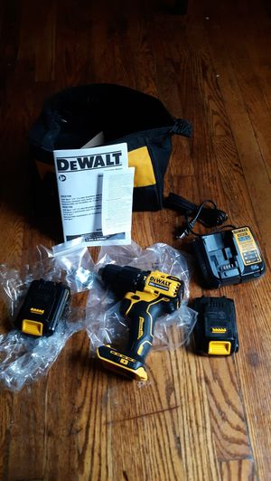 Dewalt power hammer drill and 2 battery and charger for Sale in UPPR MARLBORO, MD