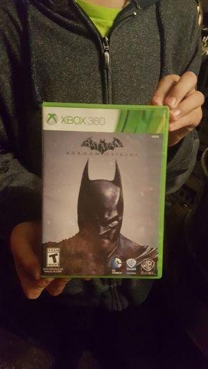 Batman ark ham origins for Xbox 360 for Sale in Seattle, WA