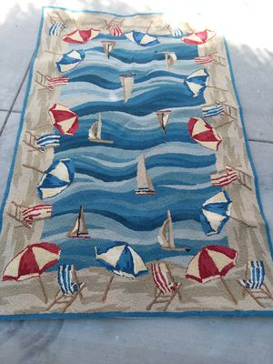 Ocean 🌊/sailboat ⛵ /beach ☔ theme rug for Sale in Los Angeles, CA
