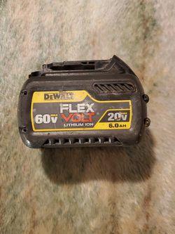 DEWALT BATTERY 20V 6.0AH 60 V for Sale in Silver Spring,  MD