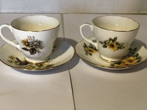 Duchess Bone China Tea Cup and Saucer-Set of Two for Sale in Palmdale, CA