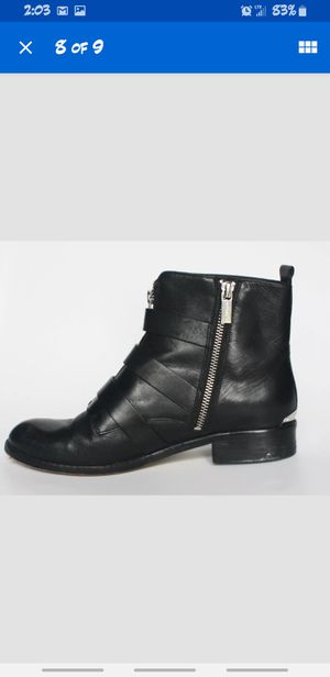 MICHAEL Michael Kors Black Anya Leather Ankle Boots for Sale in La Habra Heights, CA