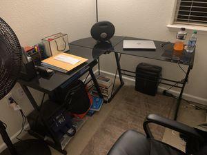 Glass computer desk for Sale in Fremont, CA