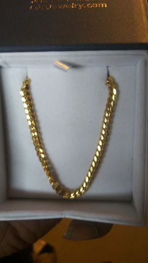 24k yellow gold plated chain for Sale in Detroit, MI