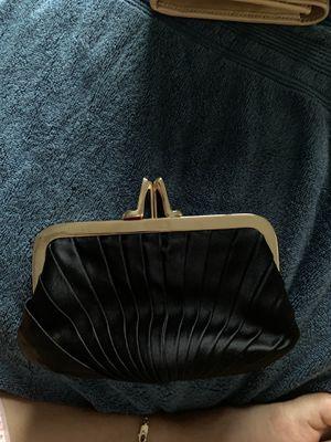 louboutin black silk clutch loubi lula for Sale in Columbus, OH