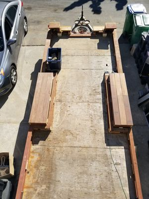 3,500 23×8 foot Heavy Duty Tandem Axle Utility flatbed trailer 30,000 Lbs. DB Pull Grade 5 ,(18 feet usable flatbed rails) for Sale in San Clemente, CA