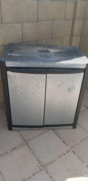 Yard/garage/shed plastic and metal storage cabinet for Sale in Glendale, AZ