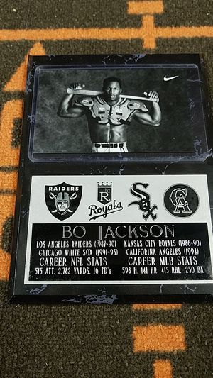 Bo jackson plaque for Sale in Parma, OH