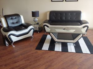 US Pride Bonded leather sofa, chair, and coffee table for Sale in Phoenix, AZ