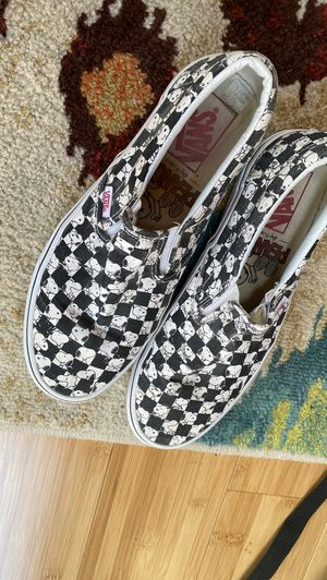 Snoopy vans slip ons for Sale in Atglen, PA