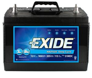 12 Volt Exide Nautilus Marine / RV Deep Cycle – Like new, $80 ($120 new at Home Depot). for Sale in Bellevue, WA