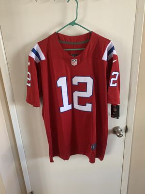 Tom Brady #12 red New England patriots jersey for Sale in Los Angeles, CA
